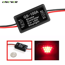 GS-100A 12--24V Flash Strobe Controller for LED Flashing Back Rear Brake Stop Light Lamp Car Accessories