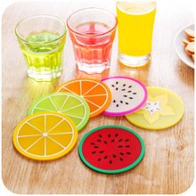 6 pcs/Lot Fresh fruit coaster Novelty placement for mugs cup Table decoration Stationery Office material School supplies 5187(China)