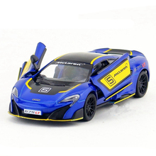 1:36 Scale KINSMART 675LT Racing Car Model Die cast & ABS Sports Cars For Collection Mini Vehicle Models Kids Toys Juguetes Gift