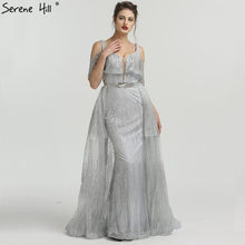 2018 New Design Silver Glitter Mermaid Evening Dresses Cut Strap Real  Picture Formal Dress Party Gown Robe De Soiree BLA6589 40f84af7a9f9
