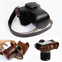 high quality PU Leather Camera Case For Fujifilm XT20 XT10 Finepix X-T10 X-T20 Camera Bag Cover With Battery Opening + strap