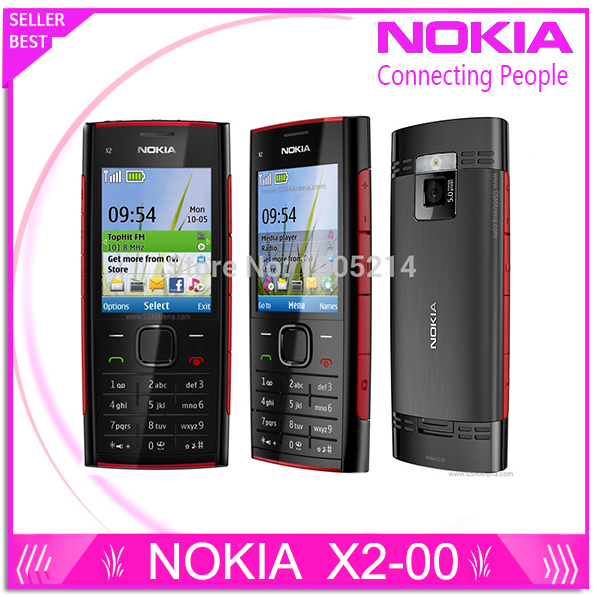 Refurbished X2 Original Nokia X2-00 Bluetooth FM JAVA 5MP Unlocked Mobile Phone Free Shipping(China (Mainland))