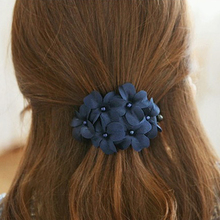 Beautiful Delicate Flower Floral Women Ladies Hair Acessories Rhinestone Hairpins Haire Clip Barrettes Headwear CC7574