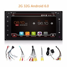 2G 32G Android 6.0 200*100 2 din Car DVD Player PC GPS Navigation Stereo For Toyota Multimedia Screen Head Unit Double BT SD MAP