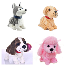 New Electronic Toys High Quality Funny Sound Control Electronic Pet Toys Plush Dog Gift Toys For Children Birthday Gifts(China)