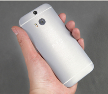 Brushed Metal Skin For HTC ONE M8 cover decal sticker protector wrap case