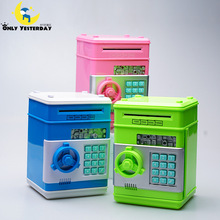 Safety Electronic Piggy Bank Code Digital Coins Cash Deposit Money Box Secret Mini ATM Machine Children dispensador de caramelos(China)