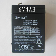New 6V 4AH Toy Battery Rechargeable Small Lead Acid Battery Electric Car Battery 6V 4AH 4.5AH Long Life 5 Years