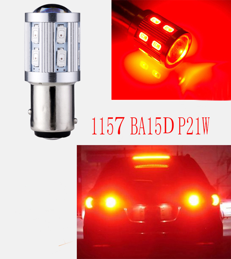2x Super bright Car led 1157 BAY15D P21/5W LED T25 S25 5630 Car Motorcycle Rear Brake Light Bulbs Taillight DRL White Yellow Red<br><br>Aliexpress