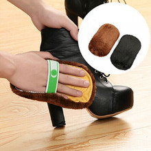 1Pcs New Arrival Shoe Care Brush Soft Wool Plush Shoe Gloves Wipe Shoes Mitt Suede Shoes Cleaner(China)