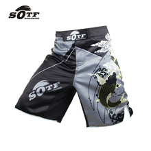 SOTF men's carp Chinese wind fitness breathable sports angle pants thai boxing cheap mma boxeo Tiger Muay Thai boxing shorts(China)