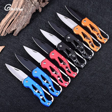 8 Colors Pocket Knife Folding Hunting Camping Tactical Rescue Survival Key Ring Keychain Mini Outdoor Fold Knife Survival Tool