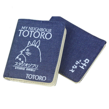 Anime Totoro/Assassination Classroom/Hatsune Miku/Fairy Tail/Time Raiders Denim Printing Short Wallet Fashion Card Holder Gifts