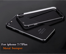 New Fashion Aluminum Metal Bumper For iPhone 7/7 Plus cover Protective Shield Frame For iphone7 7Plus frame case metallic bmper