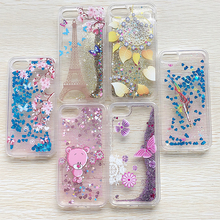 Nephy Glitter Star Phone Case For iPhone 7 4 5 6 S SE 5S 6S Plus 6plus 7Plus Cover TPU Silicon Cartoon Bear Flower Quicksand