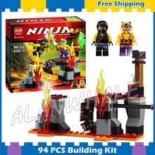 94pcs Bela 10316 Ninja Lava Falls Cole Slevin Building Block Educational Bricks Toys Compatible Lego