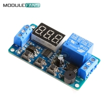 Digital LED Display Time Delay Relay Module Board DC 12V Control Programmable Timer Switch Trigger Cycle Module Car Buzzer