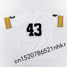 Retro star #43 Troy Polamalu Embroidered Name&Number Throwback Football Jersey(China)