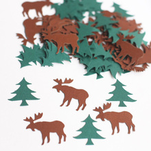 100pcs Moose Confetti, Woodland, Camping Baby Shower decor,Hunting, Lodge, Alaskan, Bachelor party confetti c33(China)