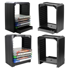 Multifunctional Universal Games & Blu Ray Discs Storage Tower Holder ,10 Game Disks Organizer for Xbox One/PS4(China)