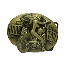 Fashion Mens Designer Hard Tail Belt Buckle Metal Motorcycle Girl Brand 3D Badge New Cowboys Brass Belt Buckles Diy Waistband(China)