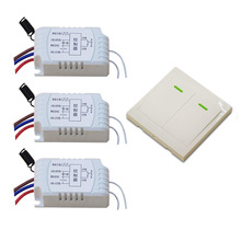 Hot SaleRemote Control Switch AC220V 3* Receiver Wall Transmitter Wireless Power Switch 315/433MHZ Radio Controlled Switch Relay