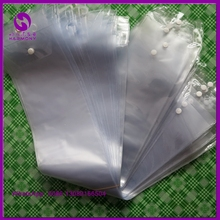 "PVC bag For Weave Hair Packaging Bags (220 pieces/lot 5.25"" width)PVC plastic hair extension bags with hanger and buttons"