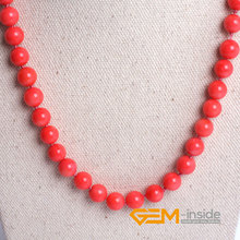 8mm 10mm 12mm pink coral necklace (dyed from white coral ) DIY jewelry for women gift Yoga Meditation necklace free shipping