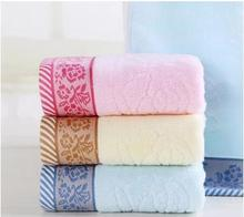 34*74cm 100% cotton knitted printed bath face towels high quality quick absorbent roses towel 3pcs/lot  free shipping