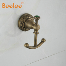 Beelee bath towel hook antique hanger,Antique Brass,wall mounted(China)