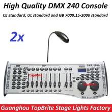 2xLot Free Shipping DMX240 Console DMX 512 Controller 192 Channels Professional DJ Disco Controller Equipment Led Stage Lights