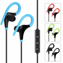 new AX-01 Ear hook Sport Wireless Bluetooth Earphone Stereo Headphone Headsets With Microphone Black, Blue, Green, red(China)