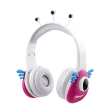 New Cute Children wired headphone kids earphone girl headband Hearing Protection for 6-18 years Cartoon style best gift