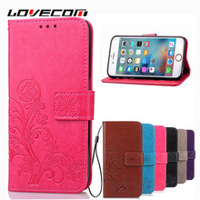 LOVECOM For Samsung S3 S4 S5 Mini S6 S7 Edge Cover For iPhone 6 6S 7 Plus Multifunction Leather Magnetic Flip Wallet Phone Case
