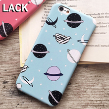 LACK Cartoon Airship Stars Frosted Case For iphone 6 Case For iphone 6S 6 Plus Hard Cover Universe Series Phone Cases Capa(China)