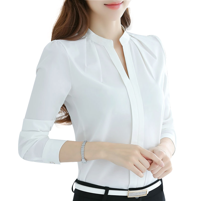 Women Blouses Long Sleeve Chiffon Blouse Shirt Wom...