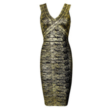 Glod Black Bandage Dress size XS S M L Sexy Party Bodycon Dresses Drop Shipping - SexyLady store