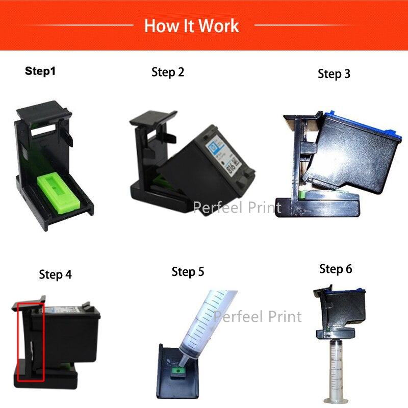 Ink refill kit step(1)