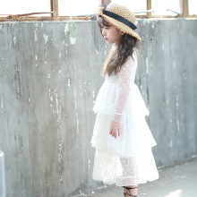 Girls dress 2017 spring and summer small and medium - sized girls little girls dresses network temperament girl dress(China)
