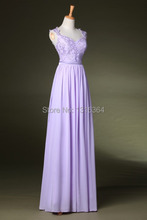 Custom Made Real Photos Beaded Long Prom Dress Sweetheart A-line Floor Length Lavender Prom Dress with Capped Sleeve Ribbon Sash