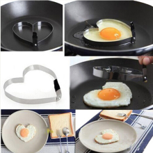 1 Pcs Stainless Steel Heart Shaper Mould Mold  Cook Fried Egg Pancake Kitchen Tool Rings Egg Cutter