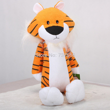 New 18 inch Orange Cute Figure Plush Sweet Sprouts Tiger Black White Toys Stuffed Animal Dolls Xmas Gifts(China)
