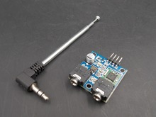 Free shipping! TEA5767 FM Stereo Radio Module 76-108MHZ With Free Cable Antenna(China)