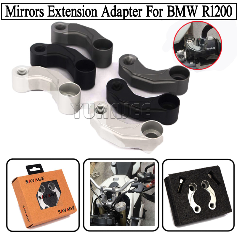 Motorcycle Aluminum Mirrors Relocation Extension Adapter Kit For BMW R1200GS LC 2013-2016, R1200GS Adventure  R nineT 2014-2016<br><br>Aliexpress