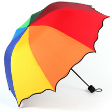 umbrella lovely lotus leaf edge arched rainbow umbrella seventy percent off water repellent Apollo umbrella advertising(China)