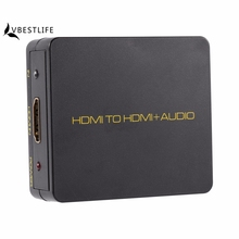 4K HDMI to HDMI Audio Converter Extractor Decoder 1080P black HDMI Converter for XBOX Blu-ray HD DVD Digital Box Audio Splitter