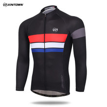 XINTOWN men cycling jersey hot long sleeve bicicleta Bike MTB bicycle clothes tld wiggins jersey for men Jacket road bike jersey(China)