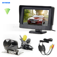 Wireless 4.3inch TFT LCD Video Car Monitor 2 Video Input + Car Camera Rear View Security System Parking Reversing System Kit