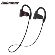 Askmeer U9 Bluetooth Earphone Sport Waterproof Wireless Stereo Earbuds Headsets with Mic Hand Free for Xiaomi Huawei Music(China)
