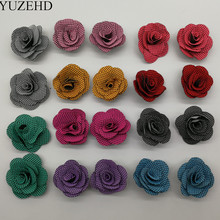 100 Pcs/lot 1.37 Inch Mini Felt Fabric Flower Handmade DIY Rose BUD Flower For Hair Accessories Headbands 10 Colors U Pick(China)